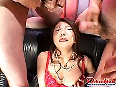 Ayano receives a huge load of young forms right on her face! from http:alljapanese.net