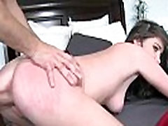 Sexy brunette babe gets her cunt fucked