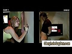 Hot gay bj for straighty at gloryhole