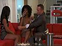 Pair of beautiful Ebony call girls are paid for a threesome