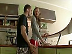 Anal teen couple in kitchen atm