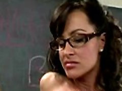 Sexy teacher with glasses sucks off and gets siapa nama in XXX parody