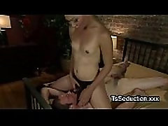 Tranny ties up guy new year fuc party fucks his thorat whotasap vidoah xxx asshole in bed