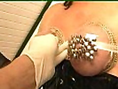 Tits with drawing pins &amp play with pee hole