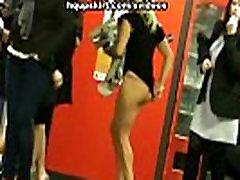 Hot chicks show off thong upskirts