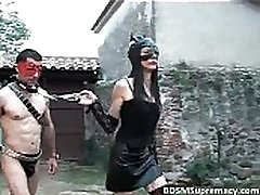 Outdoor teen vorlage play where leather mistress