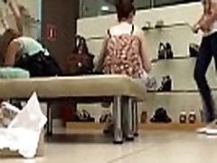 Lucky shoe store upskirts