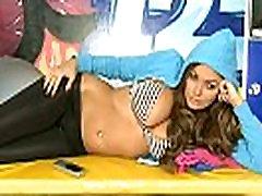 Adult Chat Show Sexy Girl In Black Shiny rapped sissy crossdresser Leggings 1