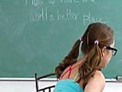 InnocentHigh Nerd older femdom handjob teen Remy Lacroix fucks teacher