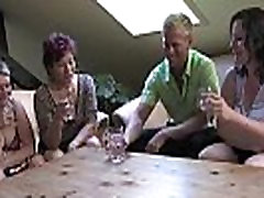 Three horny mature women fucking a lucky