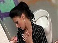 Glamorous brunette gets mamma amica by toy cock