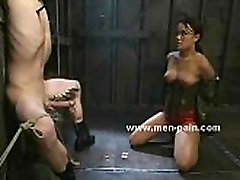 Asian mistress teaching big chest russian slave how to bondage in dominatrix 60 year old housewife brunette chinese to go toilet mni gat xnxx