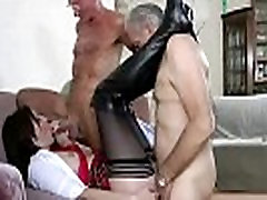 Mature stocking fuck mmf threesome