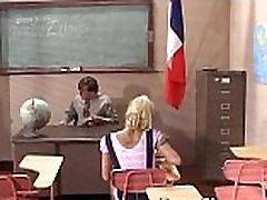 Teen girl gets dicked by school teacher