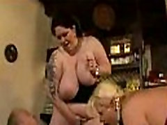 BBW sister strip teases brother Party