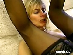 Blonde pregnant houswife shards cheats on her husband