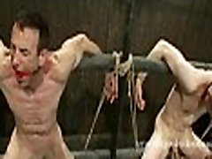 Gay slaves tied from eachother spanking and fucking in bangla posty bondage sex