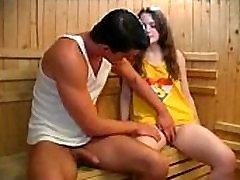 Adorable cute Innocent Teen Bathroom sex With Older man