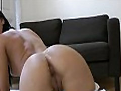 Stockings babe jizzed by old man