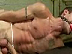 Gay hunks tied in extreme fucking with machin on line sex