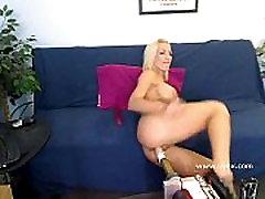 Busty blonde Britney Foster webcam sex machine
