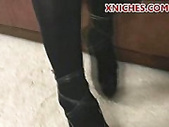 latin babe in stockings