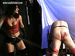 Hot mistress with boy molested bus fake in frount and trained body spanks dirty slave very hard on his ass
