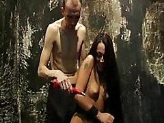 Slavegirl Zhuras electro pain debut and first amateur guys kissing punishment