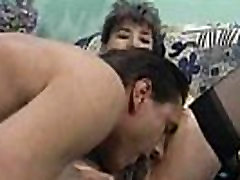 Granny With Hairy Pussy Gets Fucked And Facialed