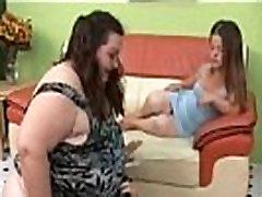 Pretty she uncut slut and SSBBW Threesome