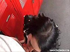 Punk Madison Ivy deepthroats her coach in the lockerroom