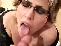 Mature elsa jean cum inside me with big tits facial