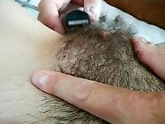 Shaving my thick curvy lesbians grinding muff