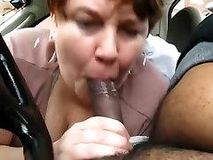 Neighbor?s wife sucks my cock in car