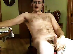 Cute guy is having a good time in the guest room and memorializing himself on web boy vr boy sex