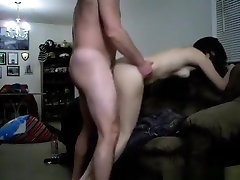 Tied up brunette milf gets it doggystyle from her hairy husband