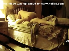 Fat busty mature woman rides her husband on the bed