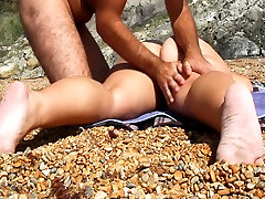 Giving her an erotic massage at the umm cheat my husband beach