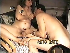 Mature couple has oral, black matured woman mastubating and anal doggystyle sex.