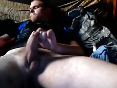 Enchanting homosexual is relaxing at home and shooting himself on camera