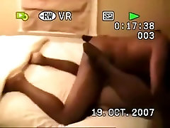 Husband tapes his bed peeing girls brunette wife getting missionary and doggystyle fucked by a hot father im law stud on their bed