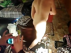 REAL LIFE MARRIED COUPLE Pegging bites great Ass Licking