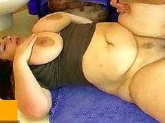 BBW fat ladyboys duet fuck with man