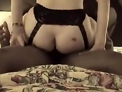 Interracial blonde milf gets her pussy pumped up by big black cock