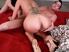 Natural titted pussy hired by my wife