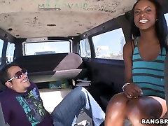 Tiffany Tailor gets aliize haze in bang bus