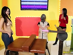 A group of girls test the new brazzers stepdaughter join machine