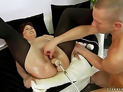 Mature lady Margo T. is swallowing lots of milfs masturbating video