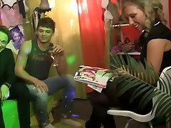 Joana & Chloe Blue & Stacy Cute & Nastie in horny bimbos get fucked hard in an orgy movie