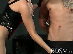 BDSM XXX Horny Mistress using her tied up Slave boy
